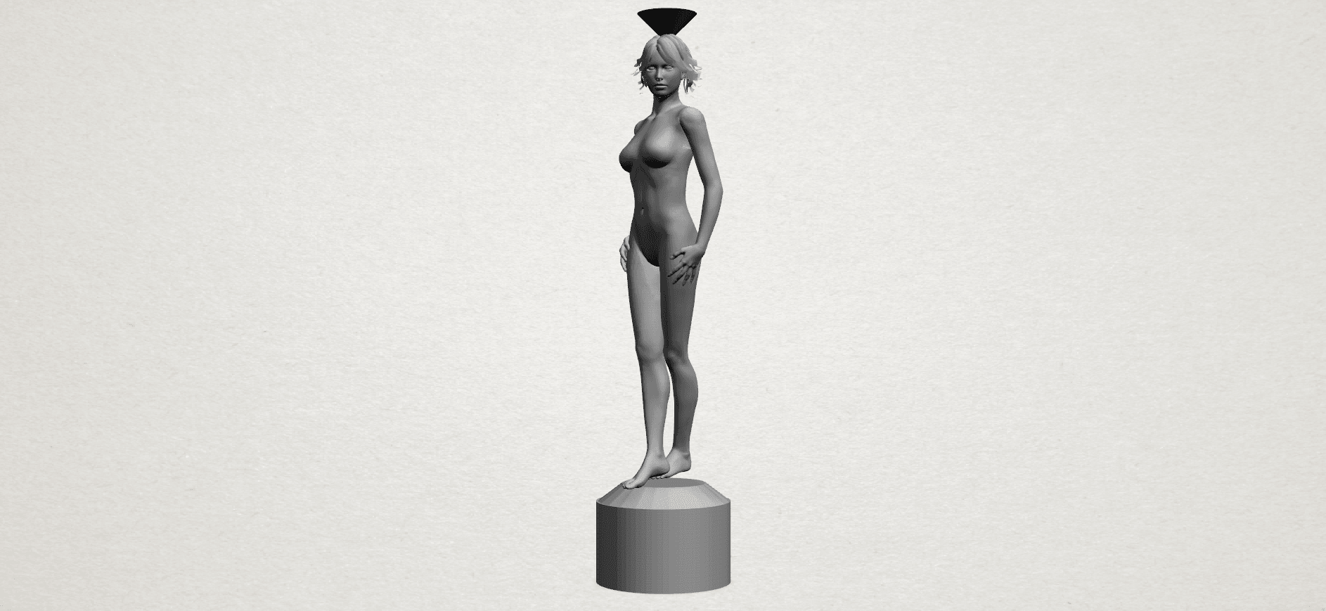 Naked girl-vase-A02.png Download free STL file Naked Girl with Vase on Top (i) • 3D print template, GeorgesNikkei