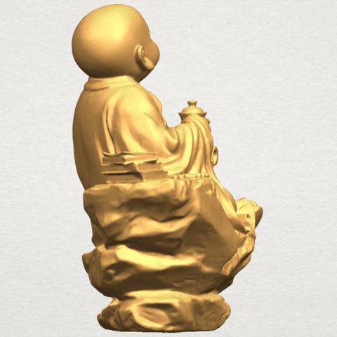 TDA0558 Little Monk Drink Tea A07.png Télécharger fichier STL gratuit Boire du thé Little Monk Drink Tea • Design à imprimer en 3D, GeorgesNikkei