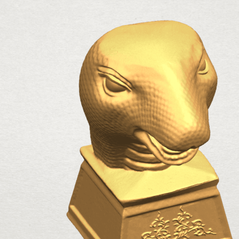 TDA0513 Chinese Horoscope of Snake A08.png Download free STL file Chinese Horoscope of Snake 02 • 3D printer design, GeorgesNikkei
