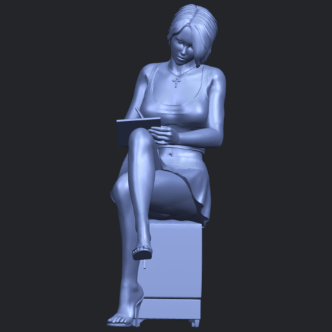 19_TDA0471_Beautiful_Girl_05_B01.png Download free STL file Beautiful Girl 05 • 3D printing template, GeorgesNikkei