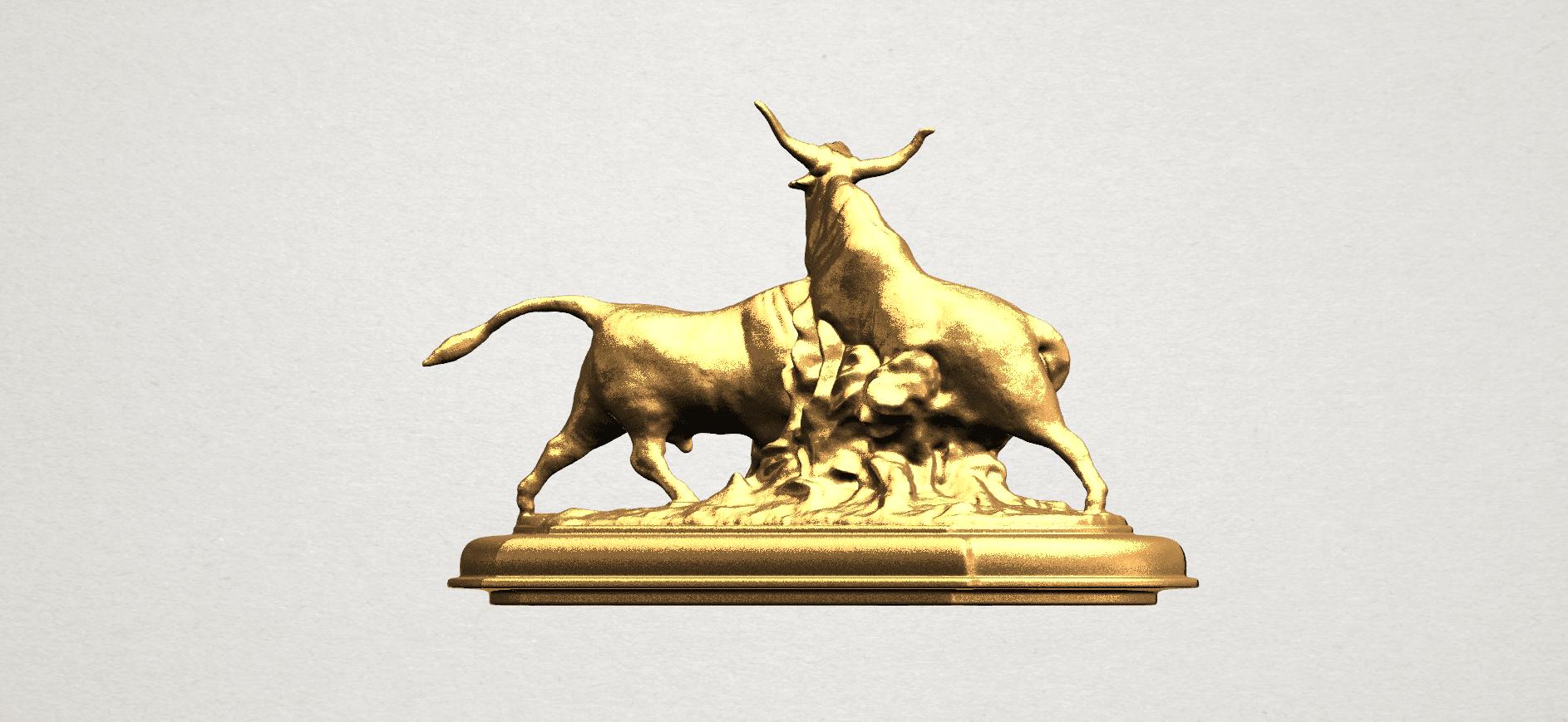 Bull (iii) A05.png Télécharger fichier STL gratuit Taureau 03 • Plan imprimable en 3D, GeorgesNikkei