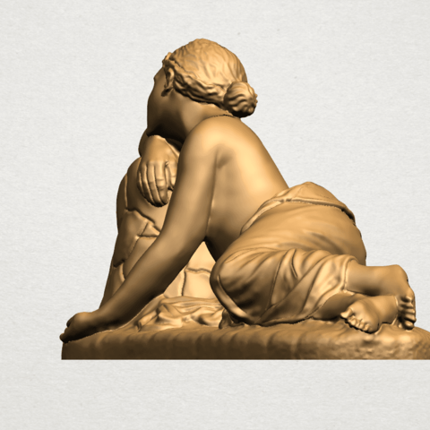 Naked Girl - Lying on Side - A03.png Download free STL file Naked Girl - Lying on Side • 3D printer template, GeorgesNikkei