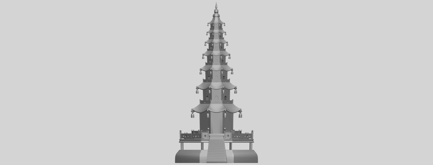 03_TDA0623_Chiness_pagodaA01.png Download free STL file Chiness pagoda • Design to 3D print, GeorgesNikkei
