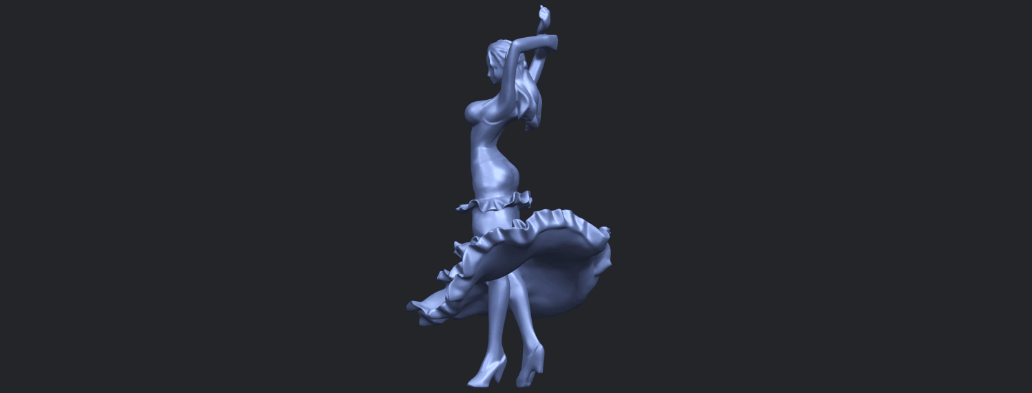 23_Girl_with_Dress_80mm-B07.png Download free STL file Girl with Dress • Object to 3D print, GeorgesNikkei