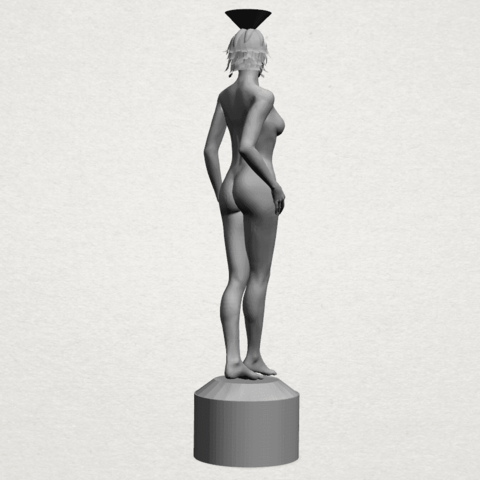 Naked girl-vase-A05.png Download free STL file Naked Girl with Vase on Top (i) • 3D print template, GeorgesNikkei