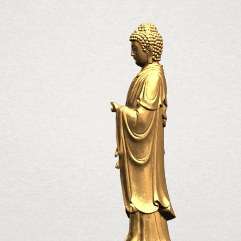 Gautama Buddha (stand)-80mm-B02.png Télécharger fichier STL gratuit Gautama Bouddha - Debout 01 • Plan pour impression 3D, GeorgesNikkei