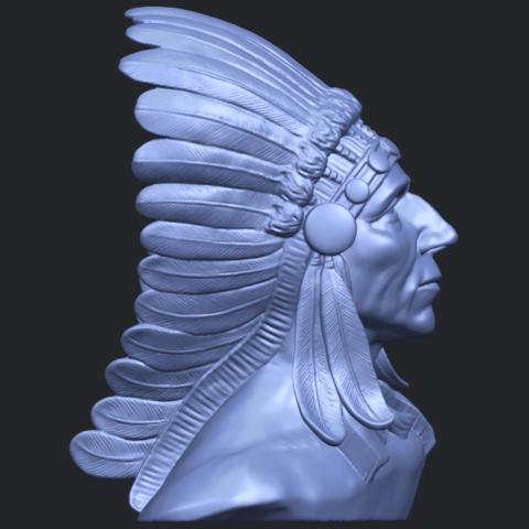 09_TDA0489_Red_Indian_03_BustB09.png Télécharger fichier STL gratuit Rouge Indien 03 • Objet pour impression 3D, GeorgesNikkei