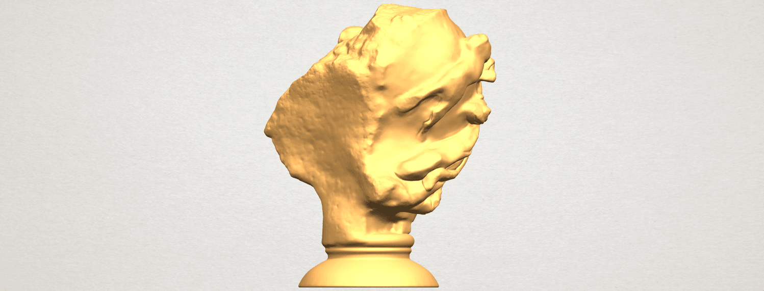 A07.png Download free STL file Bust of Shock • 3D print object, GeorgesNikkei