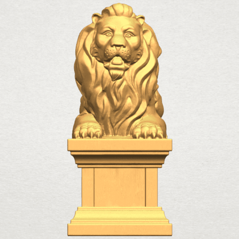 TDA0499 Lion 04 A01 ex500.png Download free STL file Lion 04 • Template to 3D print, GeorgesNikkei