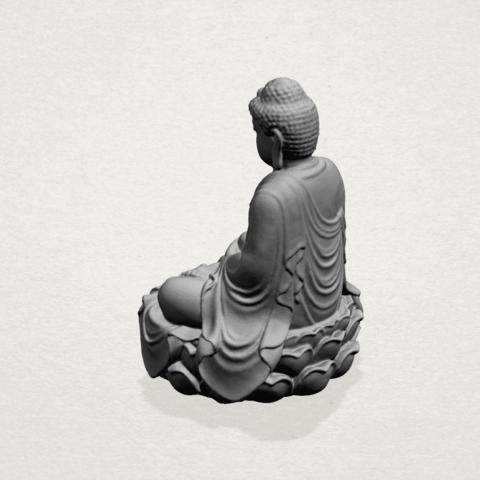 Gautama Buddha -A02.png Télécharger fichier STL gratuit Gautama Bouddha 01 • Plan pour impression 3D, GeorgesNikkei