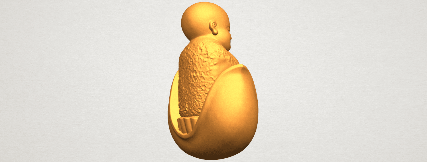 A08.png Download free STL file Little Monk 03 • 3D print template, GeorgesNikkei