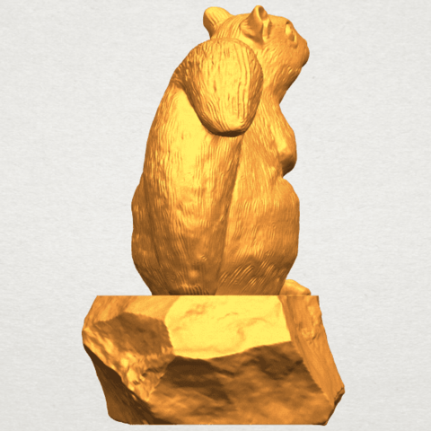 A04.png Download free STL file Squirrel 01 • Model to 3D print, GeorgesNikkei