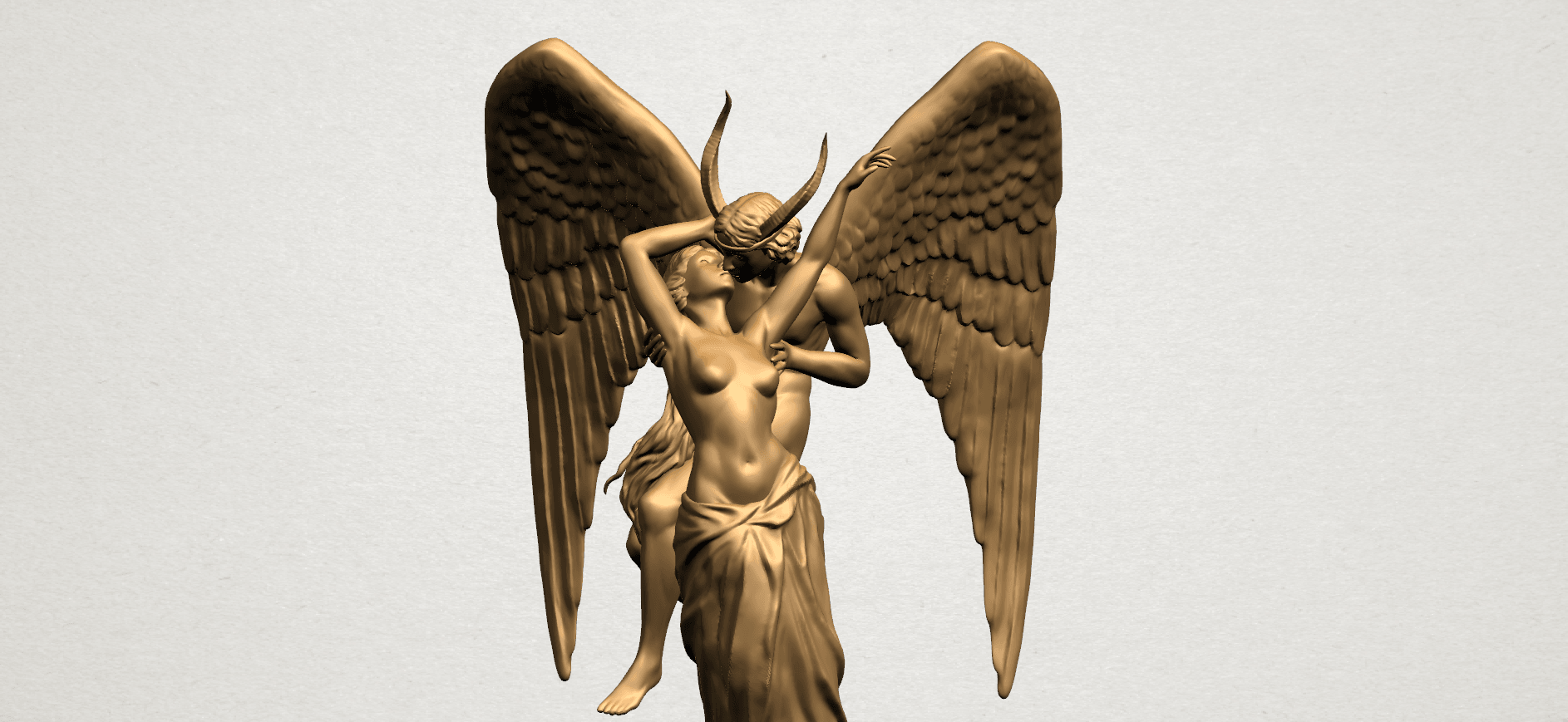 Angel and devil - B03.png Download free 3DS file Angel and devil • 3D print template, GeorgesNikkei