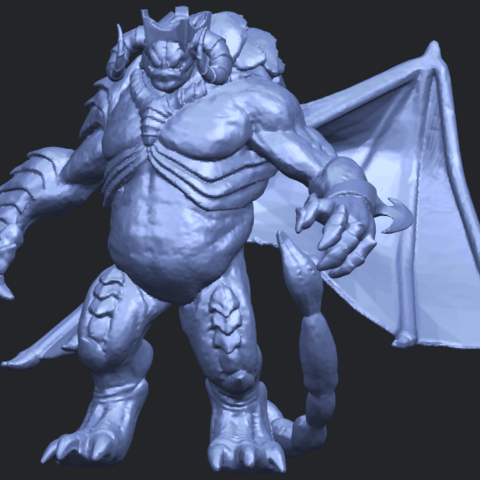 18_TDA0217_Monster_iB02.png Download free STL file Monster 01 • 3D printable template, GeorgesNikkei