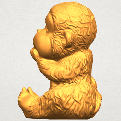 A04.png Download free STL file Monkey A04 • Model to 3D print, GeorgesNikkei