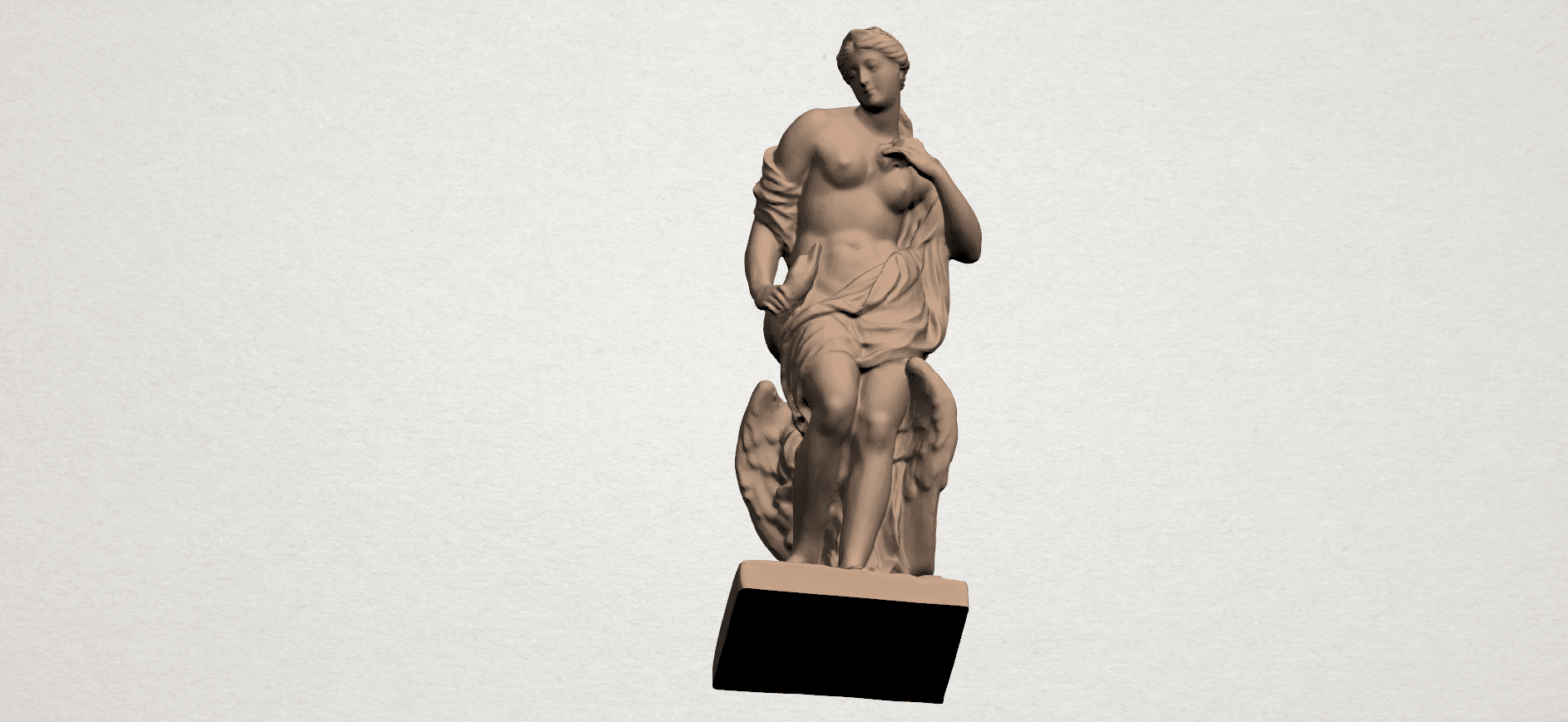 Naked Girl with Goose A07.png Download free STL file Naked Girl with Goose • 3D print template, GeorgesNikkei