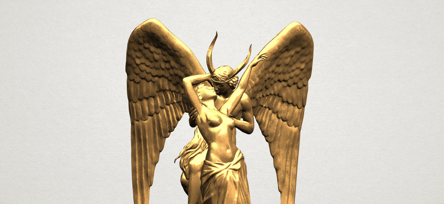 Angel and devil - C09.png Download free 3DS file Angel and devil • 3D print template, GeorgesNikkei