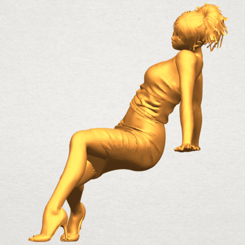 A03.png Download free STL file Naked Girl G10 • 3D printable template, GeorgesNikkei