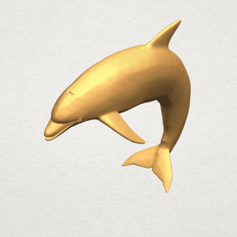 TDA0613 Dolphin 03 A08.png Download free STL file Dolphin 03 • Design to 3D print, GeorgesNikkei