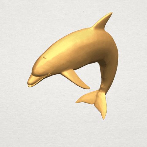 TDA0613 Dolphin 03 A08.png Télécharger fichier STL gratuit Dauphin 03 • Objet pour impression 3D, GeorgesNikkei