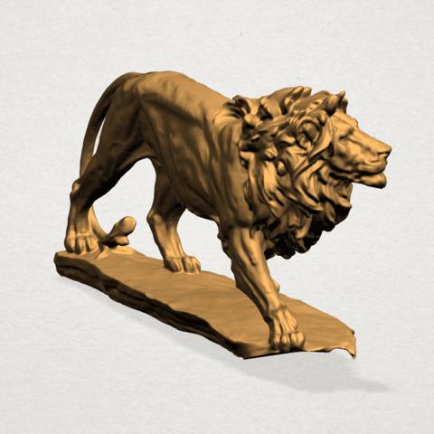 Lion (ii) -50mm-A05.png Télécharger fichier STL gratuit Lion 02 • Design pour impression 3D, GeorgesNikkei