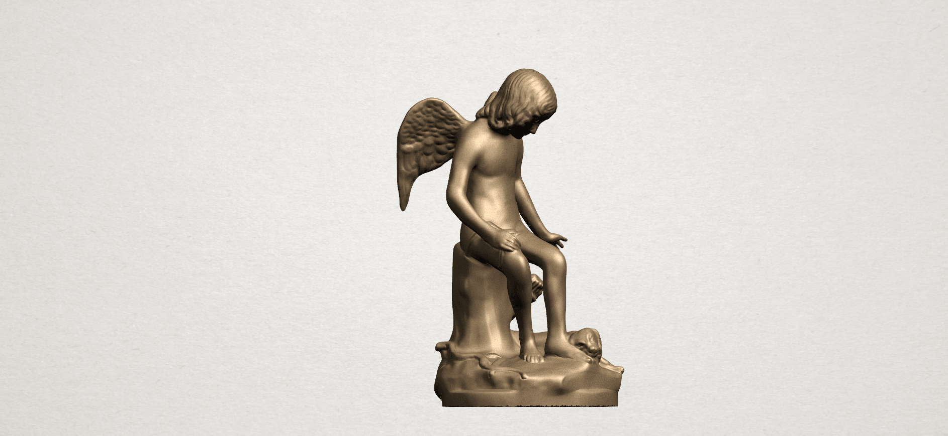 Angel and Dog A06.png Download free STL file Angel and Dog • 3D print model, GeorgesNikkei