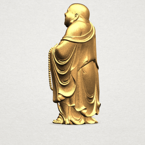 TDA0070 Metteyya Buddha 01 - 88mm - A03.png Download free STL file Metteyya Buddha 01 • 3D print object, GeorgesNikkei