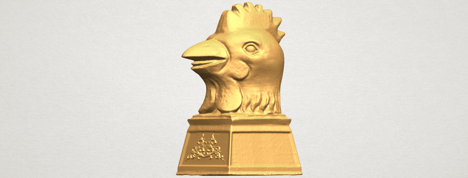 TDA0517 Chinese Horoscope of Rooster 02 A02.png Download free STL file Chinese Horoscope of Rooster 02 • 3D printable object, GeorgesNikkei