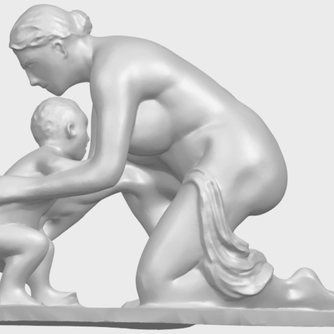 10_Mother-Child_(iv)_90mm_(repaired)A01.png Download free STL file Mother and Child 04 • 3D print template, GeorgesNikkei