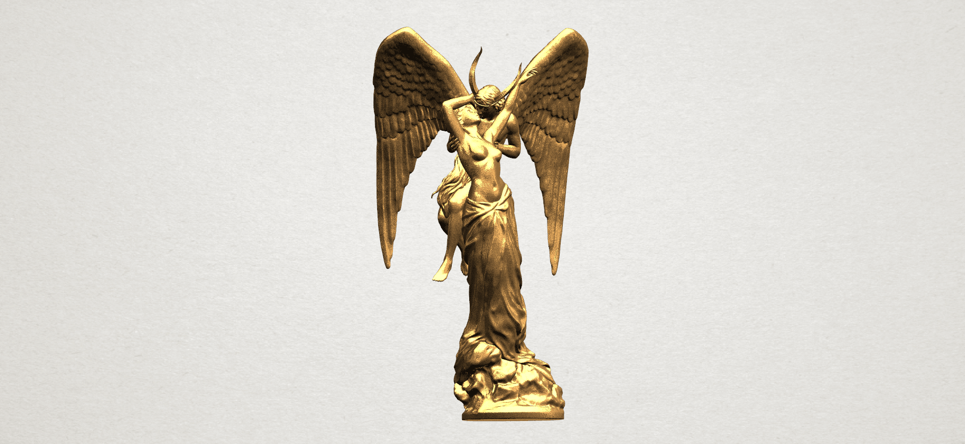 Angel and devil - C07.png Download free 3DS file Angel and devil • 3D print template, GeorgesNikkei