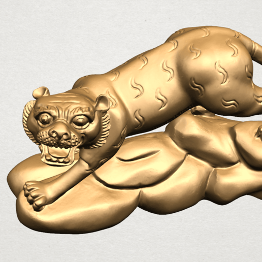 Chinese Horoscope03-A06.png Download free STL file Chinese Horoscope 03 Tiger • 3D printer template, GeorgesNikkei