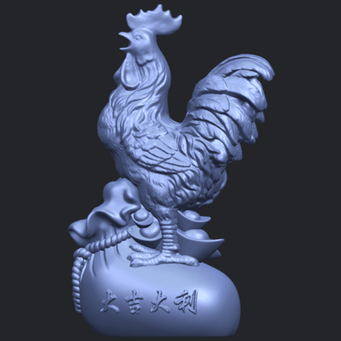 08_TDA0321_CockB02.png Télécharger fichier STL gratuit Coq 01 • Design pour impression 3D, GeorgesNikkei