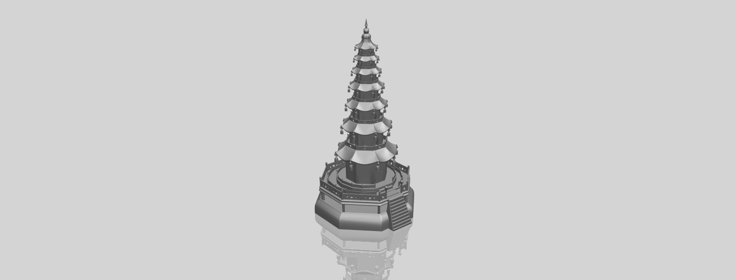 03_TDA0623_Chiness_pagodaA00-1.png Download free STL file Chiness pagoda • Design to 3D print, GeorgesNikkei