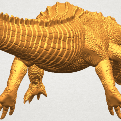 A09.png Download free STL file Alligator 01 • 3D printer object, GeorgesNikkei