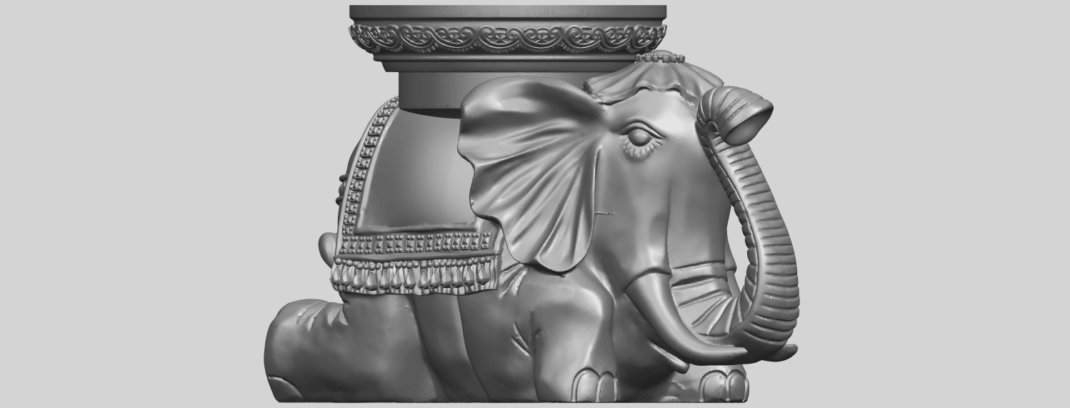 11_TDA0501_Elephant_TableA09.png Download free STL file Elephant Table • 3D printing object, GeorgesNikkei