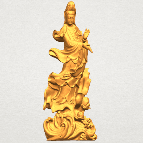 TDA0298 Avalokitesvara Bodhisattva - Standing (vi) A08.png Télécharger fichier STL gratuit Avalokitesvara Bodhisattva - Debout 06 • Objet pour impression 3D, GeorgesNikkei