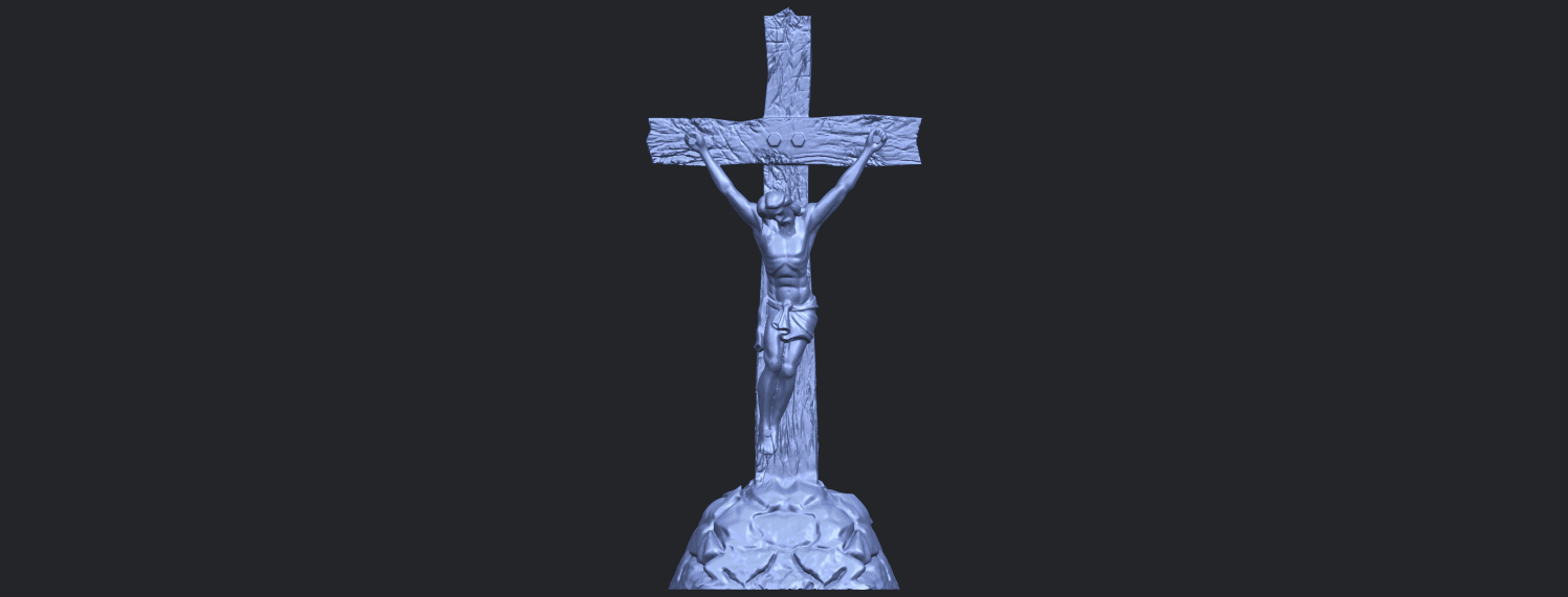 12_TDA0229_Jesus_with_cross_ii_88mmB01.png Download free STL file Jesus with cross 02 • Template to 3D print, GeorgesNikkei