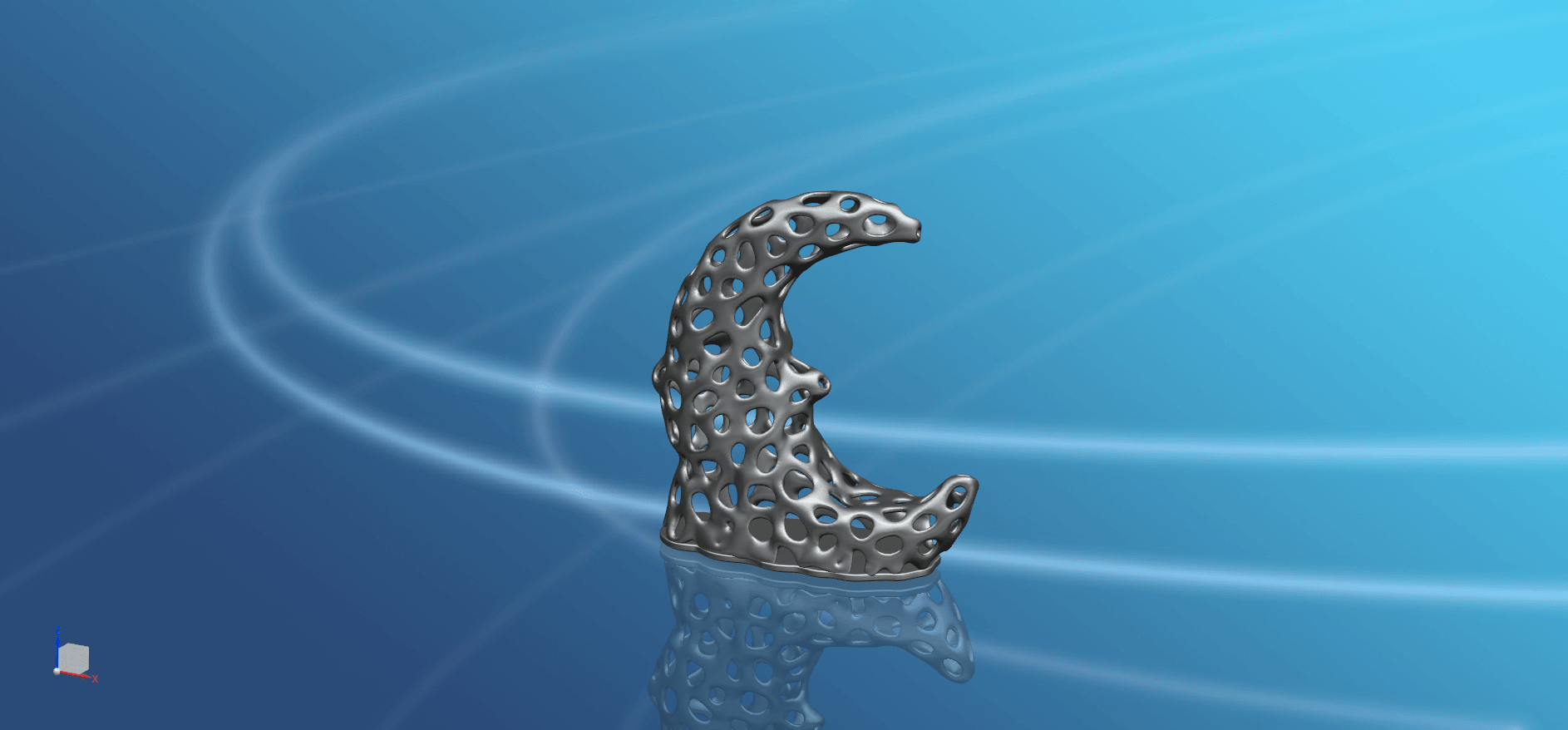 Voronoi Moon -02.png Download free STL file Voronoi Moon • Design to 3D print, GeorgesNikkei