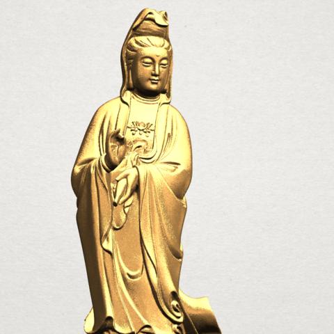 Avalokitesvara Buddha - Standing (i) A10.png Download free STL file Avalokitesvara Bodhisattva - Standing 01 • 3D printable design, GeorgesNikkei