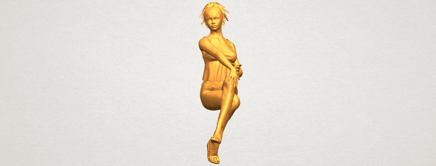 A04.png Download free STL file Naked Girl H06 • Object to 3D print, GeorgesNikkei