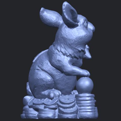 07_TDA0559_Rabbit_02B08.png Télécharger fichier STL gratuit Lapin 02 • Design imprimable en 3D, GeorgesNikkei