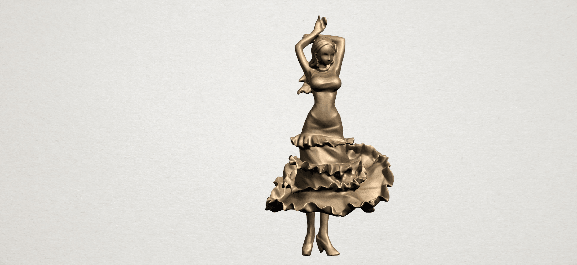 Girl with Dress A01.png Download free STL file Girl with Dress • Object to 3D print, GeorgesNikkei