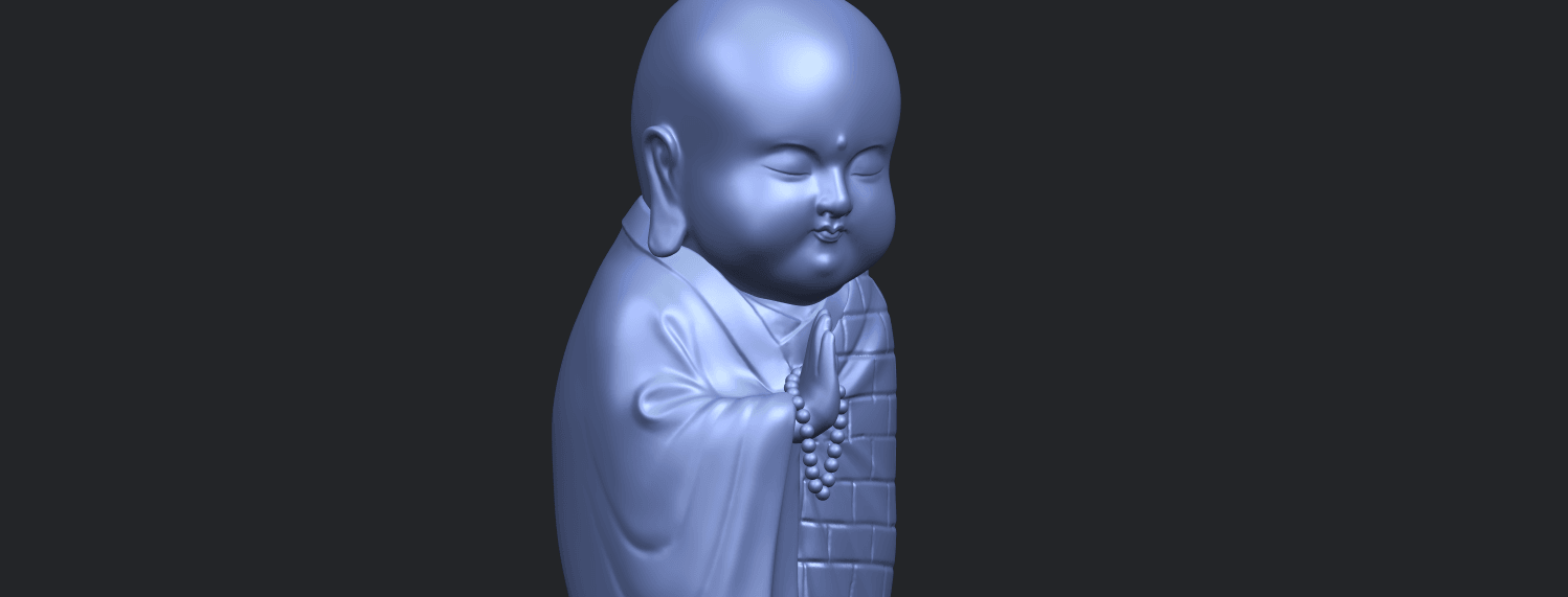 Little_Monk_80mmA10.png Download free STL file Little Monk 01 • 3D printable design, GeorgesNikkei