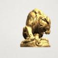 Lion (iii) - with snake A05.png Télécharger fichier STL gratuit Lion 03 - avec serpent • Modèle imprimable en 3D, GeorgesNikkei