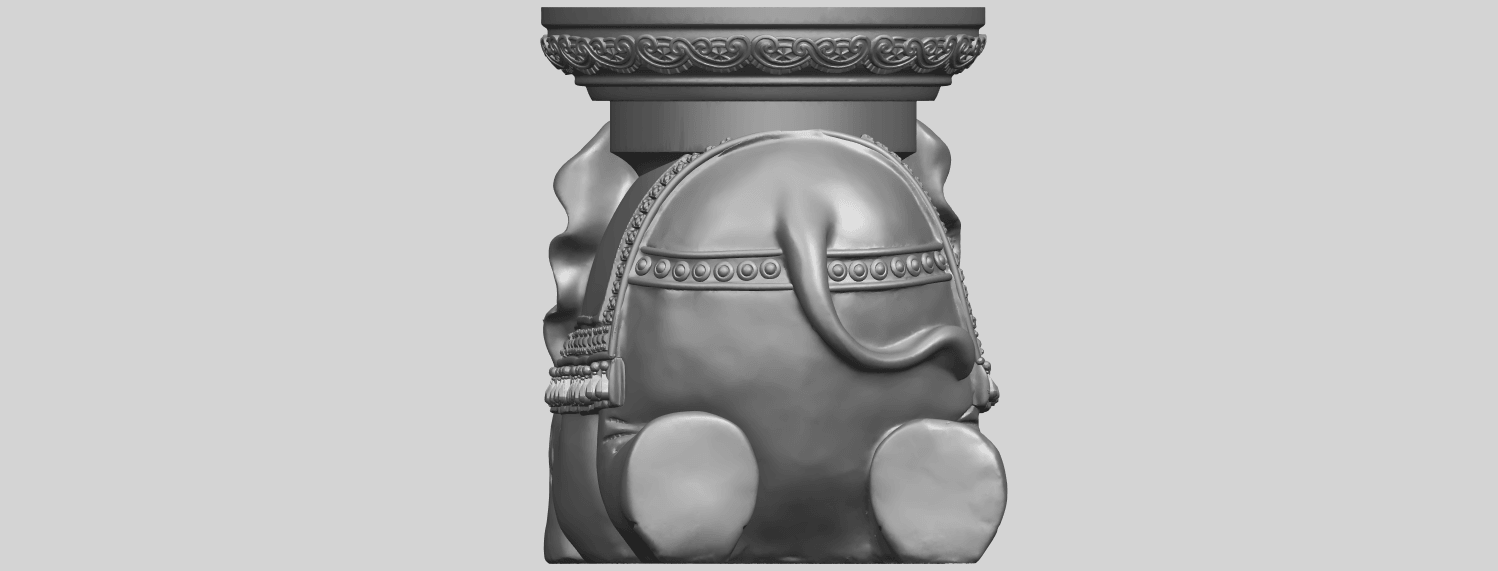11_TDA0501_Elephant_TableA05.png Download free STL file Elephant Table • 3D printing object, GeorgesNikkei