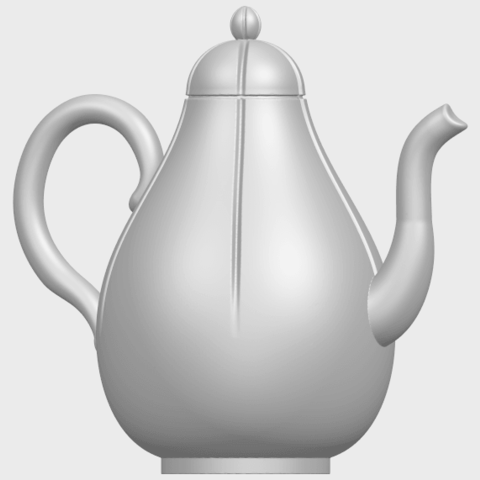 19_TDA0323_Tea_Pot_iiA07.png Download free STL file Tea Pot 02 • 3D printer template, GeorgesNikkei