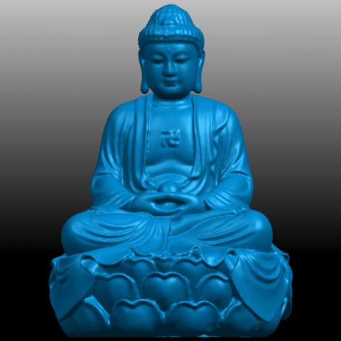 01.png Télécharger fichier STL gratuit Gautama Bouddha 01 • Plan pour impression 3D, GeorgesNikkei