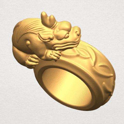 TDA0504 Pi Xiu Ring A07.png Download free STL file Pi Xiu Ring • Object to 3D print, GeorgesNikkei