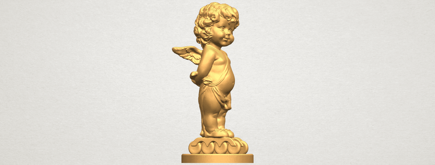 TDA0478 Angel Baby 01 A06.png Download free STL file Angel Baby 01 • 3D print template, GeorgesNikkei