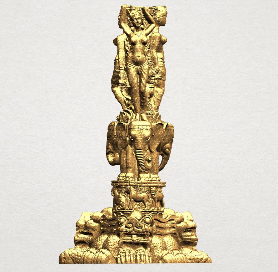 Thai Elephant Tower 80mm - A01.png Télécharger fichier STL gratuit Tour de l'éléphant thaïlandais • Modèle pour impression 3D, GeorgesNikkei